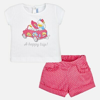 Polka Dot Shorts Set 1266 6m
