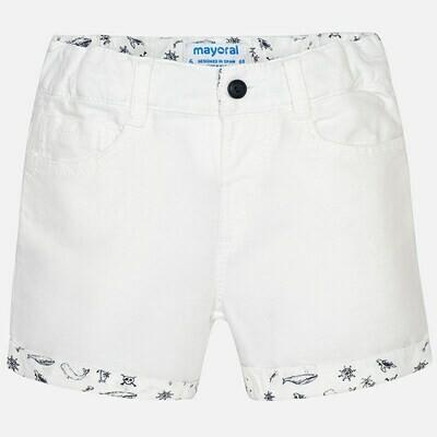 White Cuffed Shorts 1292 6m