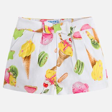 Satin Pleated Shorts 3200-7