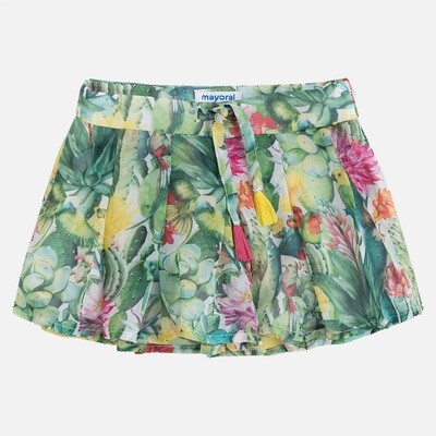 Floral Print Shorts 3912-4