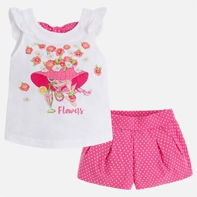 Flowers Shorts Set 3226 4