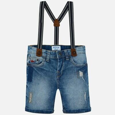 Denim Suspender Shorts 3270T-6