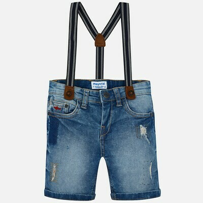 Denim Suspender Shorts 3270T-5