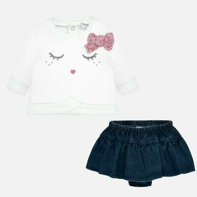 Denim Skirt Set 2836 - 2/4m