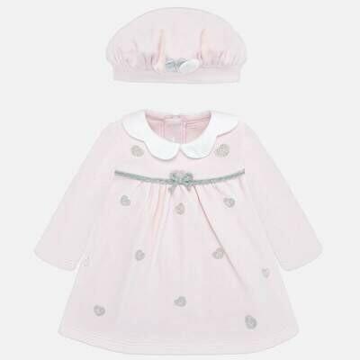 Dress & Hat Set 2803 6/9m