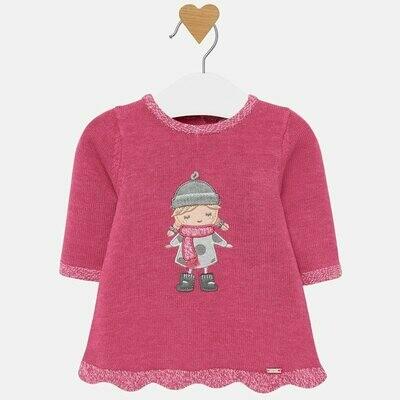 Pink Knit Dress - 4/6m