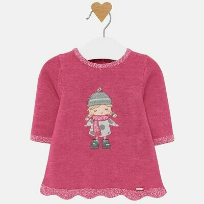 Pink Knit Dress - 2/4m