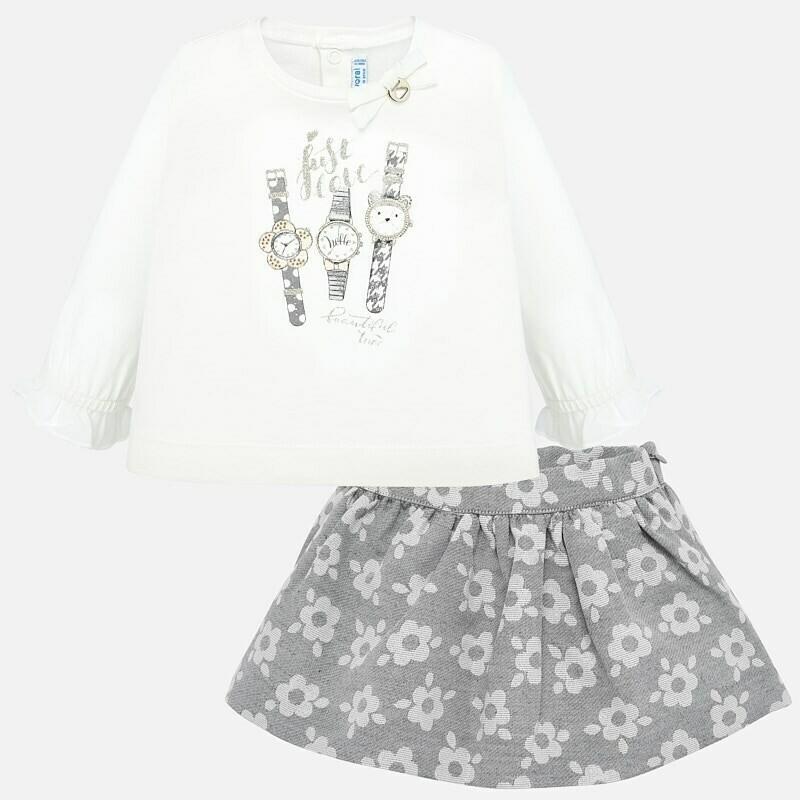Jacquard Skirt Set 2935 - 12m