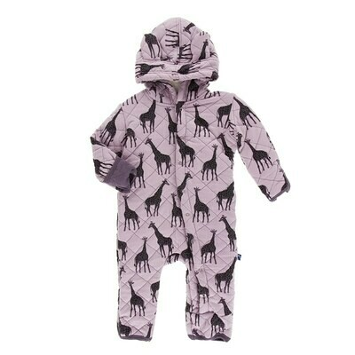 Giraffe Quilted Coverall NB