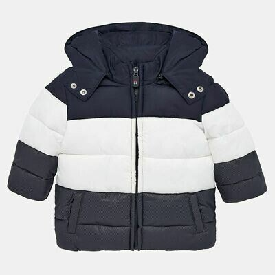 Navy Padded Coat 2451 - 6m