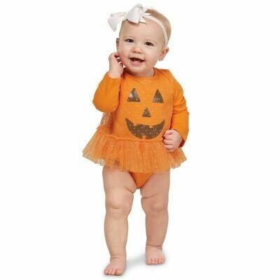 Pumpkin Tutu Crawler 0-6m