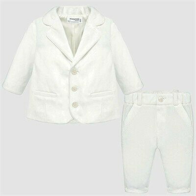 Formal White Suit 2528 6/9m