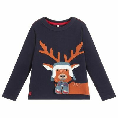 Navy Deer Shirt 3y