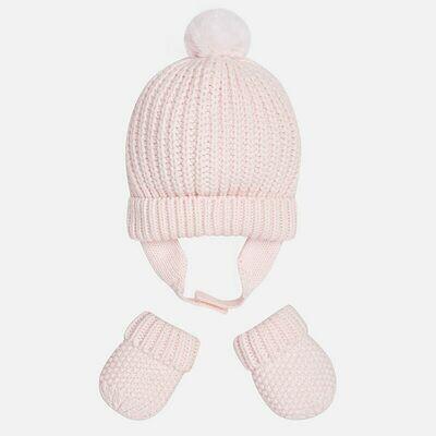 Pink Hat & Mitten Set 9608 - 0m