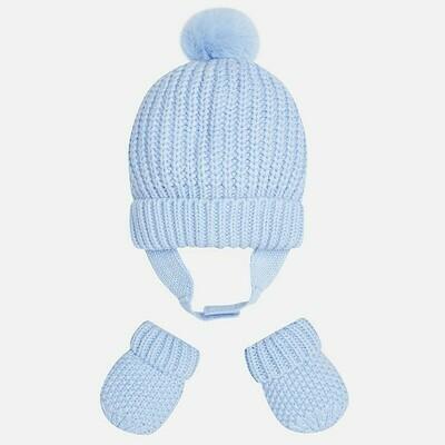 Blue Hat & Mitten Set 9608 - 12m