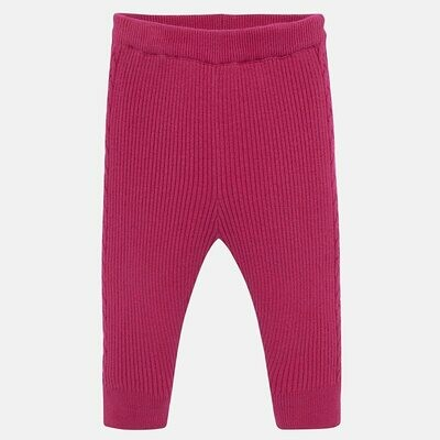 Fuchsia Knit Leggings 10639-6m
