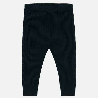 Navy Knit Leggings 10639-12m