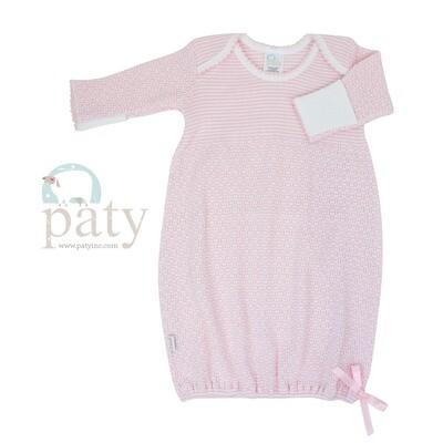 Pink Pinstripe Gown