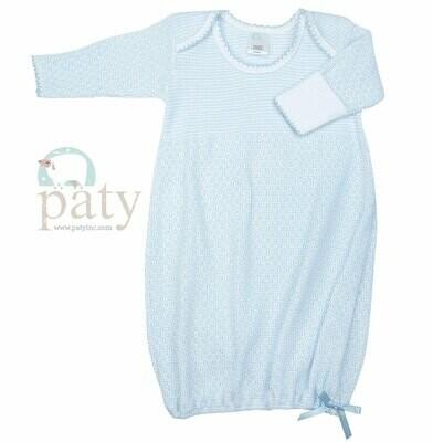 Blue Pinstripe Gown