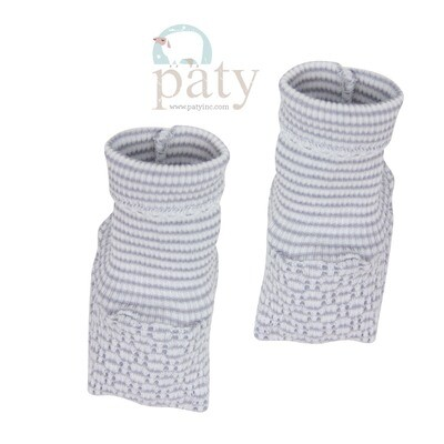 Grey Pinstripe Booties