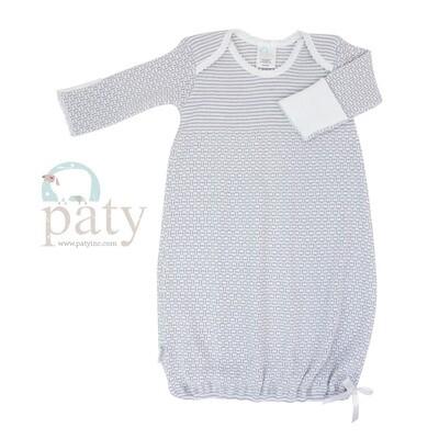 Grey Pinstripe Gown