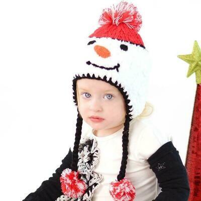 Snowman Beanie - S