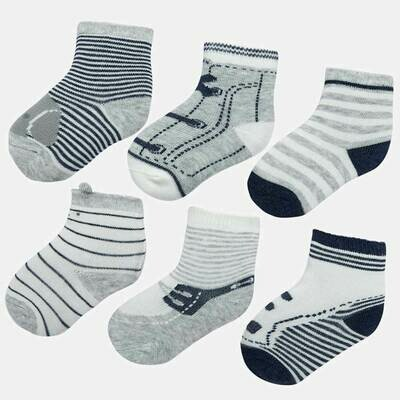 Grey Sock Set 9169 12m