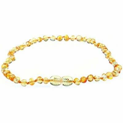 Polished Honey Amber Necklace