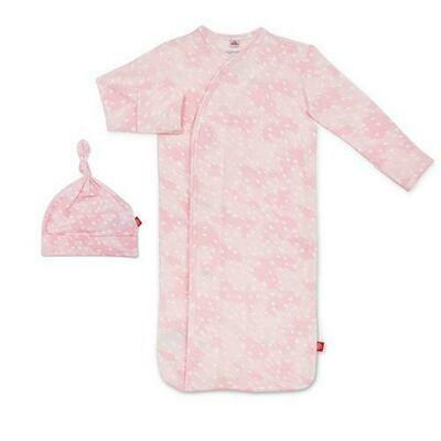 Pink Doeskin Gown & Hat