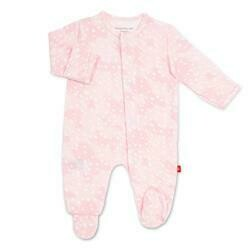 Pink Doeskin Footie 0/3m