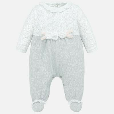 Grey Dot Romper 1752 2/4m