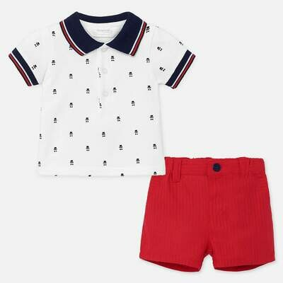 Polo & Shorts Set 1270 2/4m