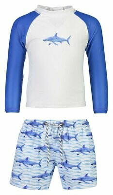 Sharks Rash Top Set 3/6m