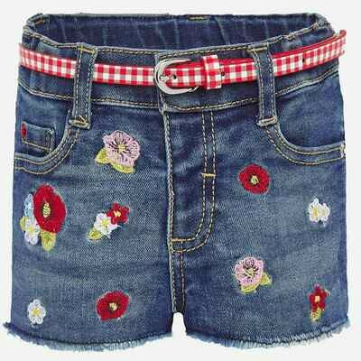 Embroidered Denim Shorts 1203 12m
