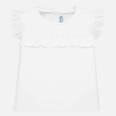 White Ruffled T-Shirt 1061 9m