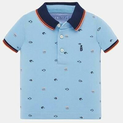 Fish Print Polo Shirt 1153 9m