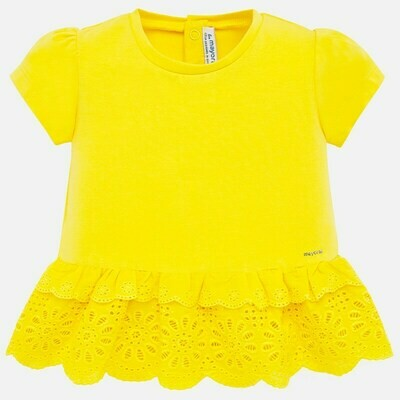 Yellow Eyelet Shirt 1062 12m