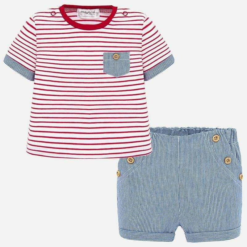 Striped Shorts Set 1260 2/4m
