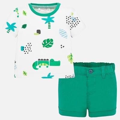 Palm Leaf Shorts Set 1277 6/9m
