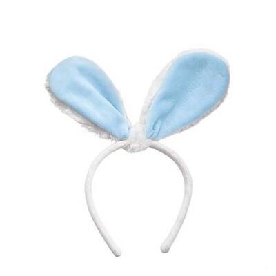 Blue Bunny Ears Headband