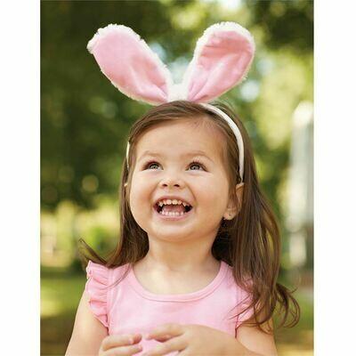 Pink Bunny Ears Headband