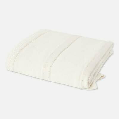 Off-White Knit Blanket 9657
