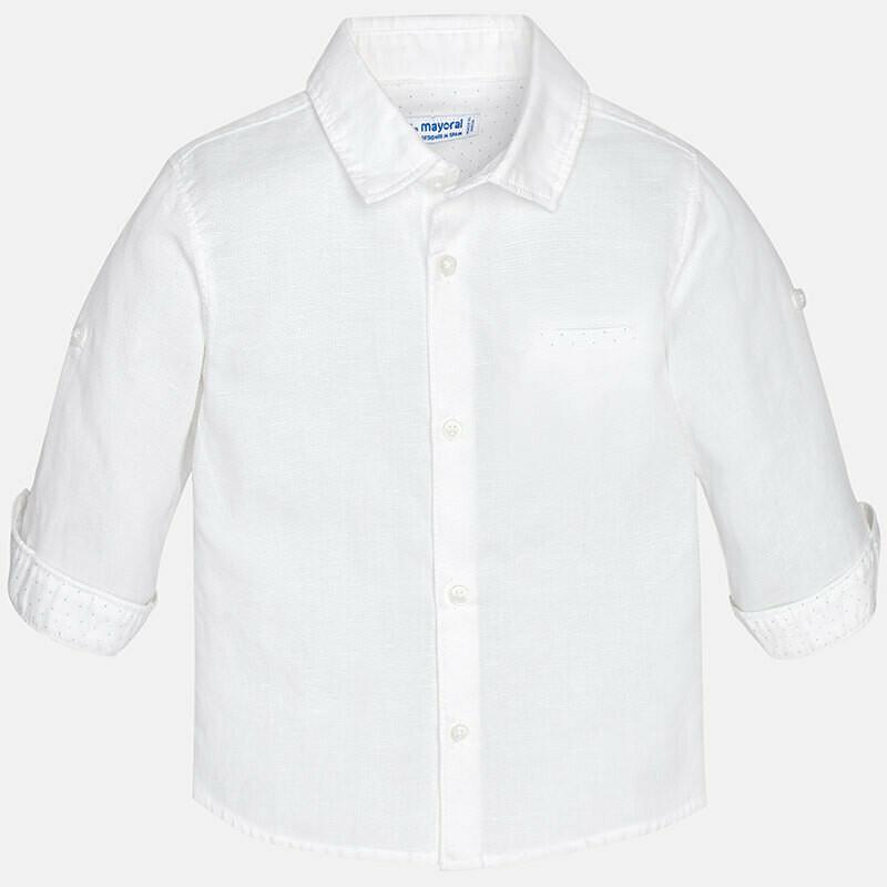 White Linen Shirt 117B 9m