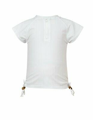 White Zip SS Rash Top - 8