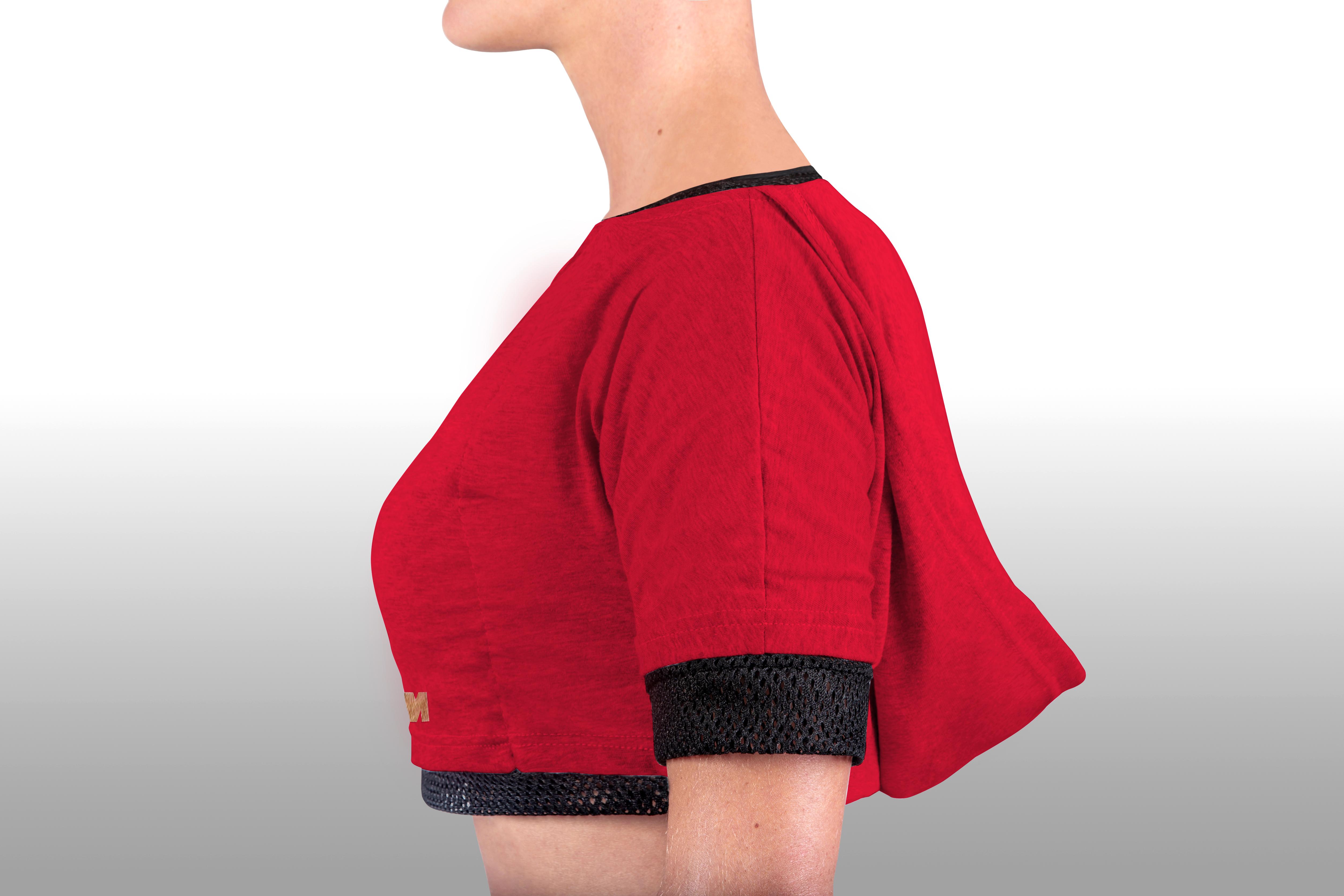 2xME female hoodie red 2in1