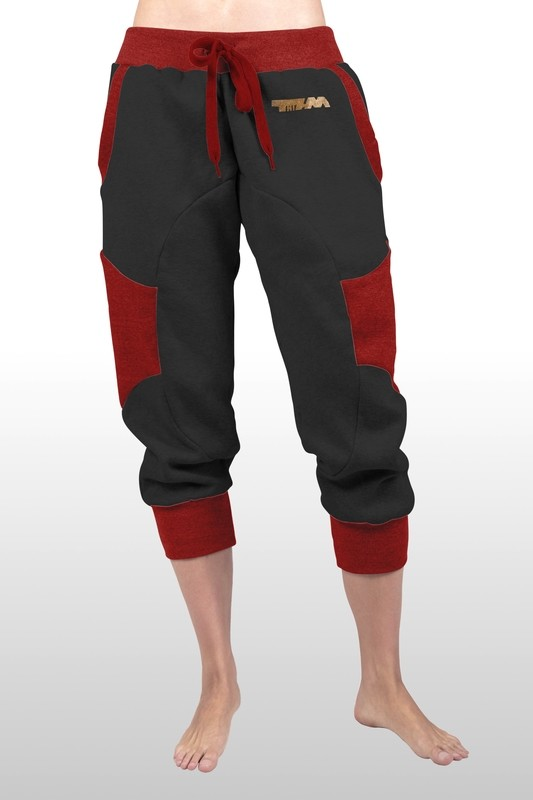 2xME unisex 3/4 pants anthracite red