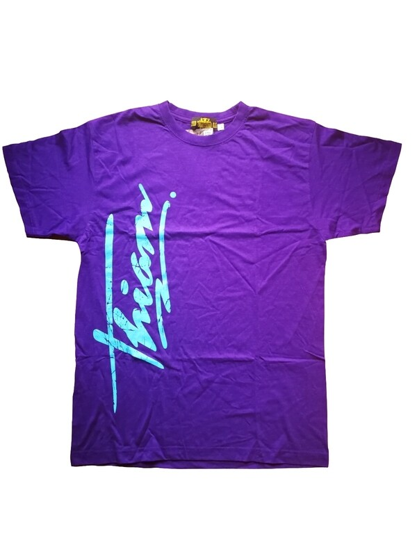 T-shirt graffiti violet