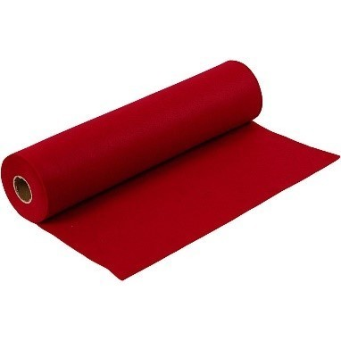 Felt - Antique Red (by the metre) W: 45 cm, thickness 1,5 mm, 180-200 g/m2