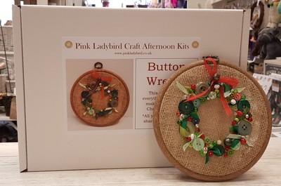 Craft Afternoon Kit - Button Wreath
