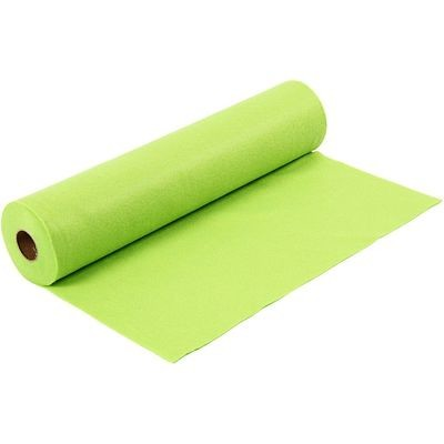 Felt - Lime Green (by the metre) W: 45 cm, thickness 1,5 mm, 180-200 g/m2